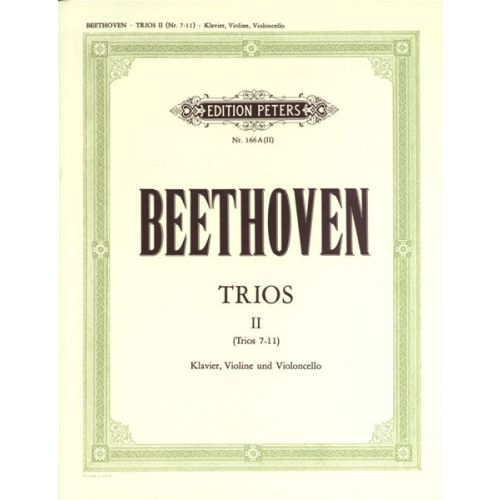 EDITION PETERS BEETHOVEN LUDWIG VAN - PIANO TRIOS, COMPLETE VOL.1 (PART 2) - PIANO TRIOS