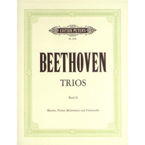 EDITION PETERS BEETHOVEN LUDWIG VAN - TRIOS FOR VIOLIN (OR CLARINET), CELLO & PIANO - PIANO TRIOS
