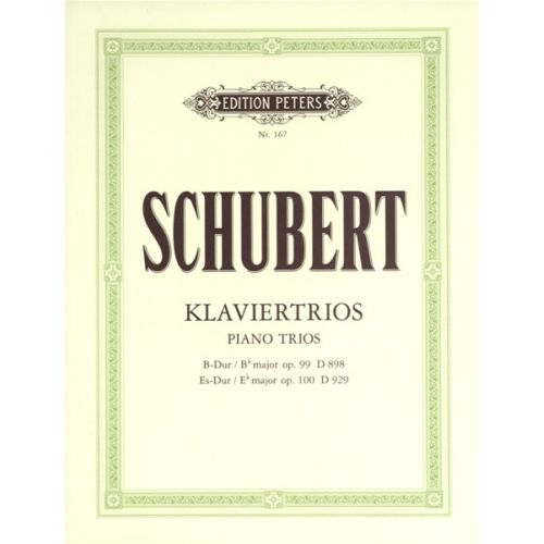 EDITION PETERS SCHUBERT FRANZ - PIANO TRIOS IN B FLAT OP.99; E FLAT OP.100 - PIANO TRIOS