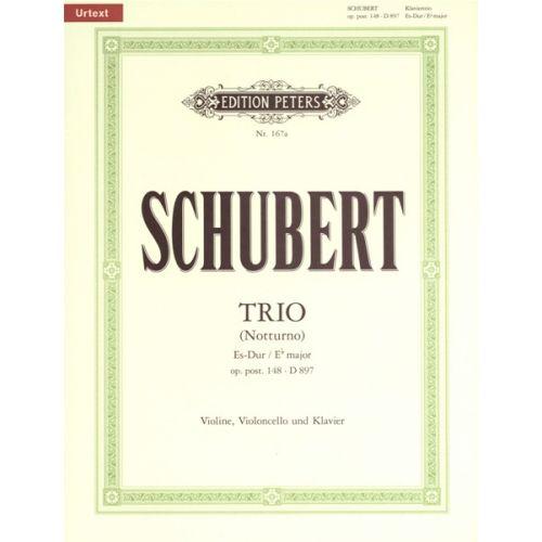 EDITION PETERS SCHUBERT FRANZ - PIANO TRIO (NOTTURNO) OP.POSTH.148 (D.897) - PIANO TRIOS