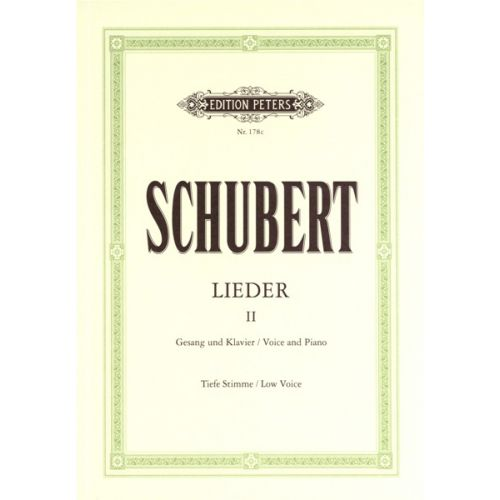 EDITION PETERS SCHUBERT FRANZ - SONGS, VOL.2: 75 SONGS - VOICE AND PIANO (PER 10 MINIMUM)