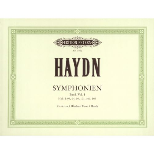 EDITION PETERS HAYDN JOSEPH - 12 SYMPHONIES VOL.1 - PIANO 4 HANDS