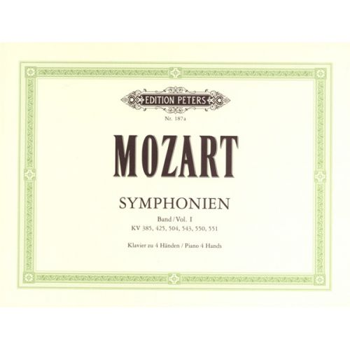 EDITION PETERS MOZART WOLFGANG AMADEUS - LATE SYMPHONIES - PIANO