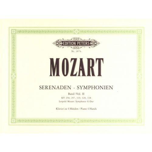 EDITION PETERS MOZART WOLFGANG AMADEUS - SYMPHONIES VOL.2 - PIANO