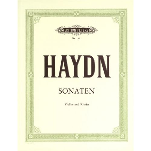 EDITION PETERS HAYDN JOSEPH - 8 SONATAS - VIOLIN AND PIANO