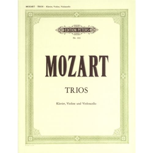 EDITION PETERS MOZART WOLFGANG AMADEUS - PIANO TRIOS, COMPLETE EDITION - PIANO TRIOS