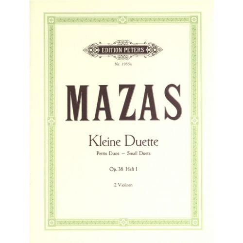EDITION PETERS MAZAS JACQUES-FÉRÉOL - SMALL DUETS OP.38 VOL.I - VIOLIN DUETS
