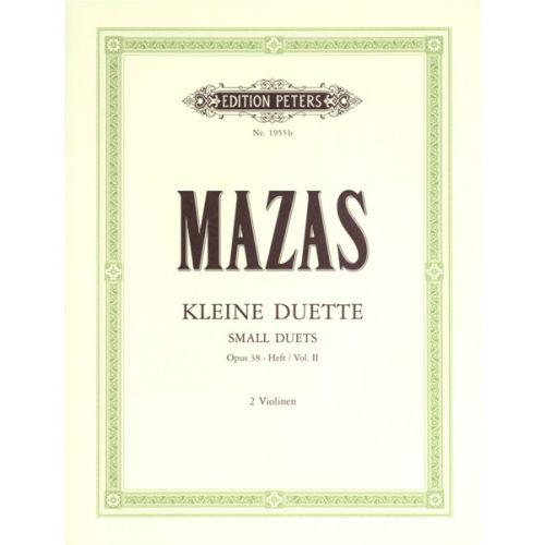EDITION PETERS MAZAS JACQUES-FÉRÉOL - SMALL DUETS OP.38 VOL.II - VIOLIN DUETS