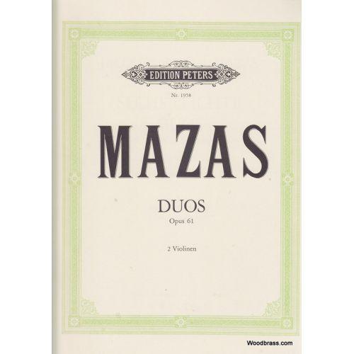 EDITION PETERS MAZAS J.F. - 6 LEICHTE DUOS - 2 VIOLONS