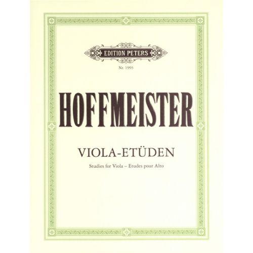 EDITION PETERS HOFFMEISTER FRANZ ANTON - 12 STUDIES - VIOLA
