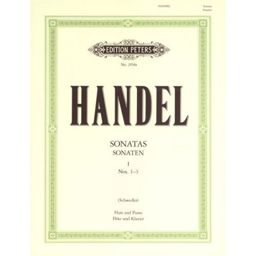 EDITION PETERS HANDEL GEORGE FRIEDERICH - FLUTE SONATAS, VOL.1 - FLUTE AND PIANO