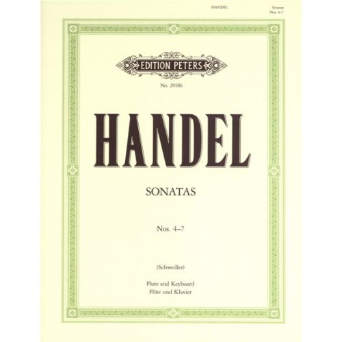 EDITION PETERS HANDEL GEORGE FRIEDERICH - FLUTE SONATAS, VOL.II - FLUTE AND PIANO
