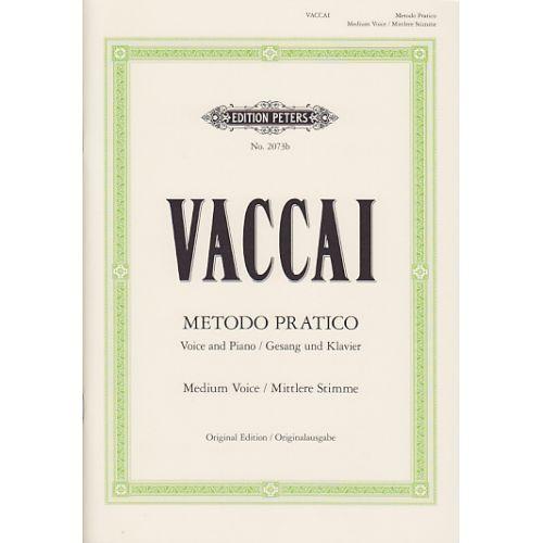 EDITION PETERS VACCAI - METHODE PRATIQUE (VOIX MOYENNE)