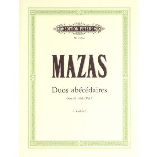 EDITION PETERS MAZAS JACQUES-FÉRÉOL - 10 DUOS ABECEDAIRES OP.85 VOL.I - VIOLIN DUETS