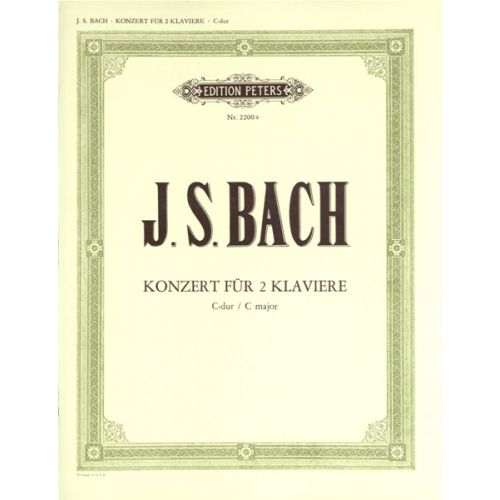 EDITION PETERS BACH JOHANN SEBASTIAN - DOUBLE CONCERTO C BWV 1061 - PIANO
