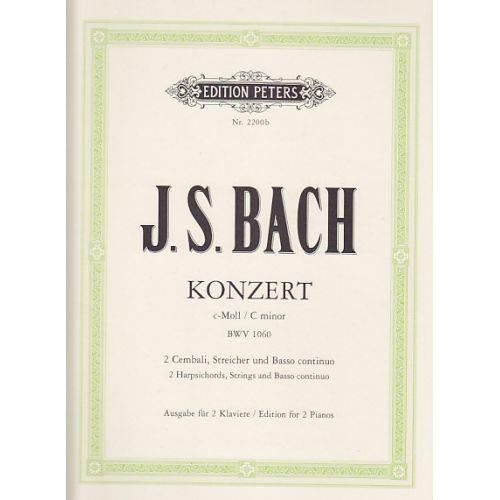 EDITION PETERS BACH J. S. - KONZERT FÜR 2 KLAVIER BWV 1060 - REDUCTION 2 CLAVIERS