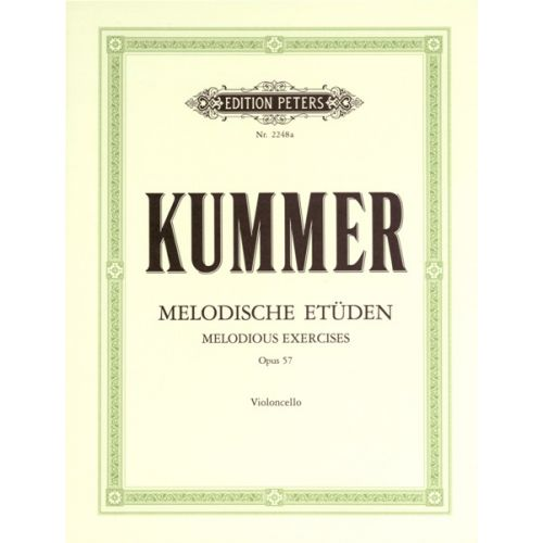 EDITION PETERS KUMMER FRIEDRICH AUGUST - 10 MELODIOUS EXERCISES OP.57 - CELLO
