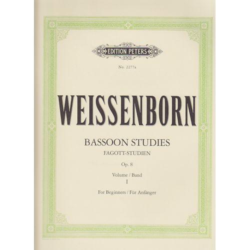 EDITION PETERS WEISSENBORN - ETUDES POUR BASSON OP.8 VOL.1