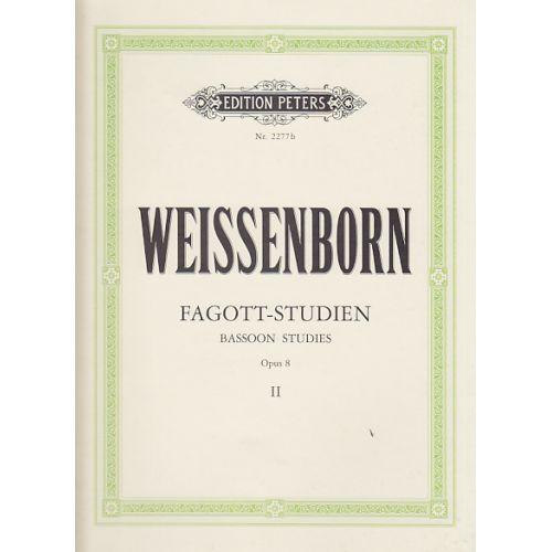 EDITION PETERS WEISSENBORN - ETUDES POUR BASSON OP.8 VOL.2