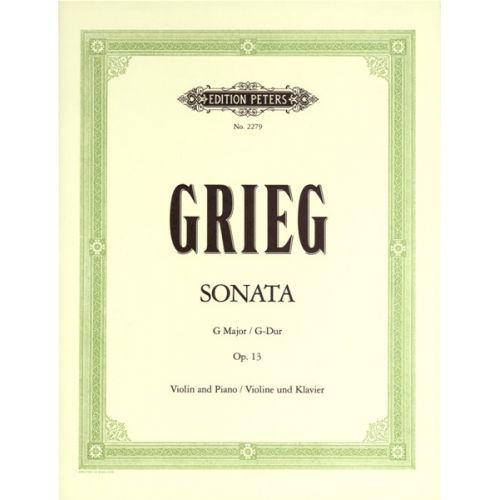 EDITION PETERS GRIEG EDVARD - VIOLIN SONATA IN G OP.13 - VIOLIN AND PIANO
