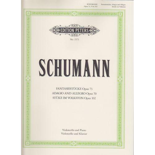EDITION PETERS SCHUMANN R. - FANTASIESTUCKE, ADAGIO UND ALLEGRO, STUCKE IM VOLKSTON - VIOLONCELLE ET PIANO