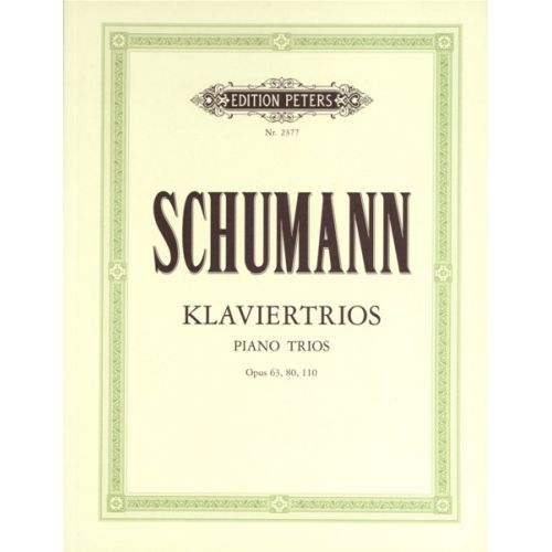 EDITION PETERS SCHUMANN ROBERT - PIANO TRIOS - PIANO TRIOS