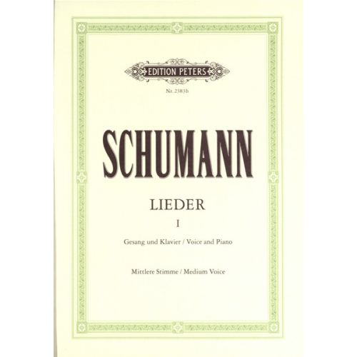 EDITION PETERS SCHUMANN ROBERT - COMPLETE SONGS VOL.1 - MEDIUM VOICE AND PIANO (PER 10 MINIMUM)
