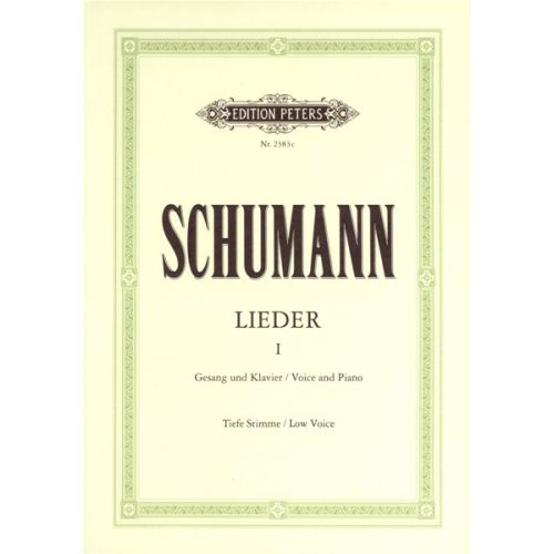 EDITION PETERS SCHUMANN ROBERT - COMPLETE SONGS VOL.1: 77 SONGS - VOICE AND PIANO (PER 10 MINIMUM)
