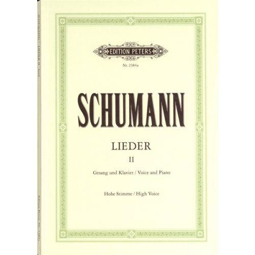 EDITION PETERS SCHUMANN ROBERT - COMPLETE SONGS VOL.2: 87 SONGS - VOICE AND PIANO (PER 10 MINIMUM)