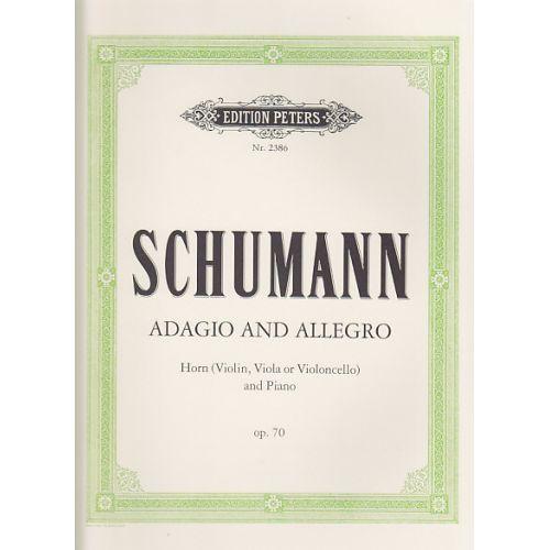 EDITION PETERS SCHUMANN R. - ADAGIO ET ALLEGRO OP.70 - COR, PIANO