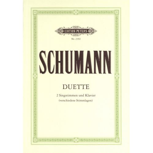 EDITION PETERS SCHUMANN ROBERT - 34 VOCAL DUETS - VOCAL DUETS/TRIOS (PER 10 MINIMUM)