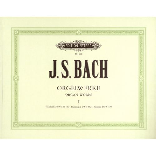 EDITION PETERS BACH JOHANN SEBASTIAN - COMPLETE ORGAN WORKS IN 9 VOLUMES, VOL.1 - ORGAN