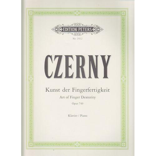 EDITION PETERS CZERNY C. - DIE KUNST DER FINGERFERTIGKEIT OP. 740 - PIANO