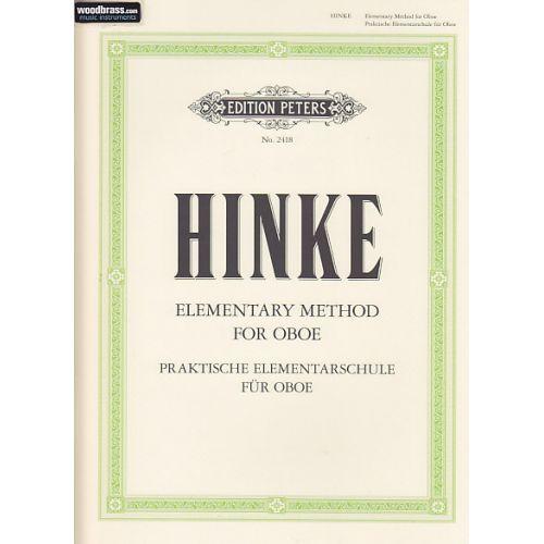 EDITION PETERS HINKE G. A. - PRAKTISCHE ELEMENTARSCHULE FÜR OBOE