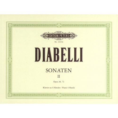 EDITION PETERS DIABELLI ANTON - SONATAS VOL.2 - PIANO 4 HANDS
