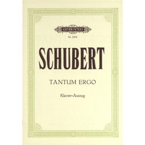 EDITION PETERS SCHUBERT FRANZ - TANTUM ERGO D952 - MIXED CHOIR (PAR 10 MINIMUM)