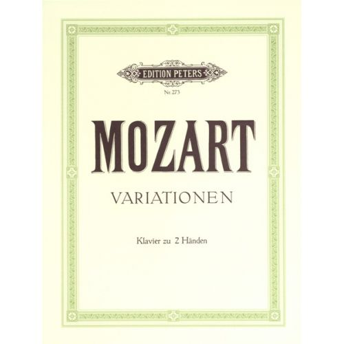 EDITION PETERS MOZART WOLFGANG AMADEUS - VARIATIONS, COMPLETE - PIANO