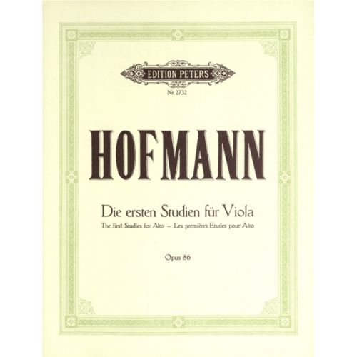 EDITION PETERS HOFMANN RICHARD - FIRST STUDIES OP.86 - VIOLA