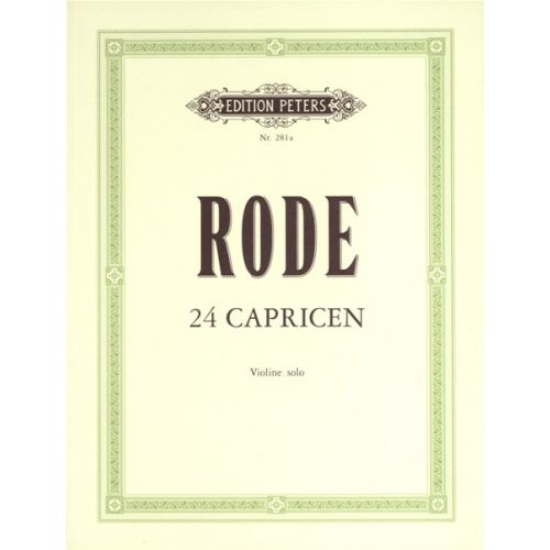 EDITION PETERS RODE PIERRE - 24 CAPRICES - VIOLIN