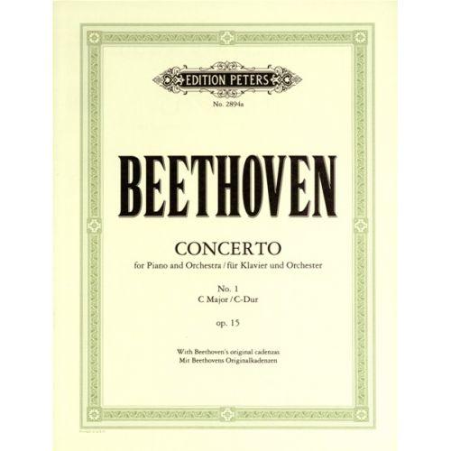 EDITION PETERS BEETHOVEN LUDWIG VAN - CONCERTO NO.1 IN C OP.15 - PIANO 4 HANDS