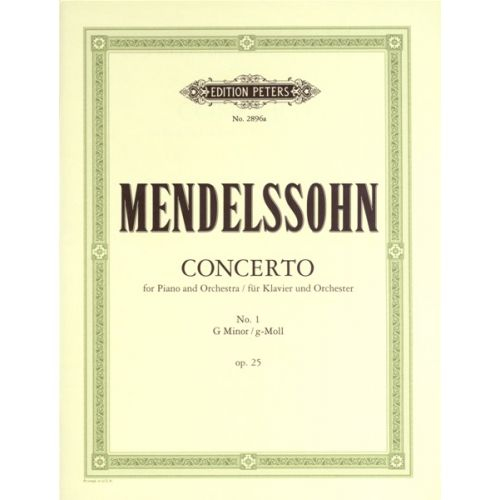EDITION PETERS MENDELSSOHN FELIX - PIANO CONCERTO NO.1 IN G MIN OP.25 - 2 PIANOS