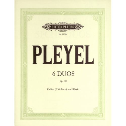 EDITION PETERS PLEYEL IGNAZ JOSEPH - EASY DUOS OP.48 - VIOLIN(S) AND OTHER INSTRUMENTS