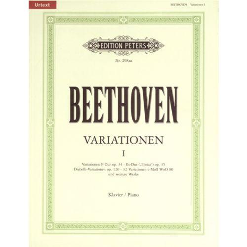 EDITION PETERS BEETHOVEN LUDWIG VAN - VARIATIONS (COMPLETE) VOL.1 - PIANO