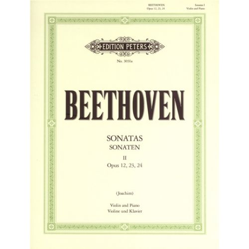 EDITION PETERS BEETHOVEN LUDWIG VAN - SONATAS, COMPLETE VOL.1 - VIOLIN AND PIANO