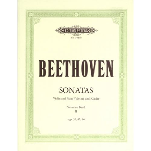 EDITION PETERS BEETHOVEN LUDWIG VAN - SONATAS, COMPLETE VOL.2 - VIOLIN AND PIANO