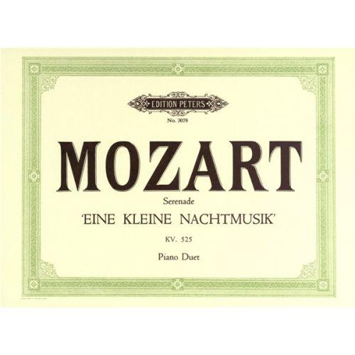 EDITION PETERS MOZART WOLFGANG AMADEUS - EINE KLEINE NACHTMUSIK K525 - PIANO 4 HANDS