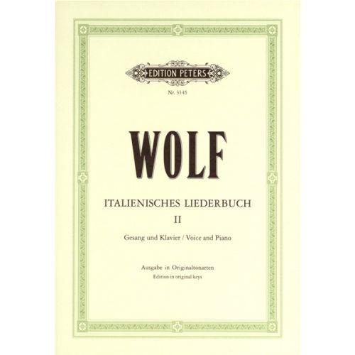 EDITION PETERS WOLF HUGO - ITALIAN LYRICS: 46 SONGS VOL.2 - VOICE AND PIANO (PER 10 MINIMUM)