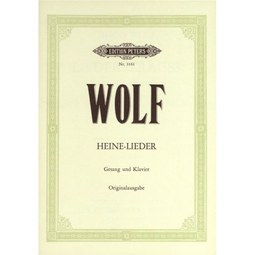 EDITION PETERS WOLF HUGO - HEINE-LIEDER 7 SONGS - VOICE AND PIANO (PER 10 MINIMUM)