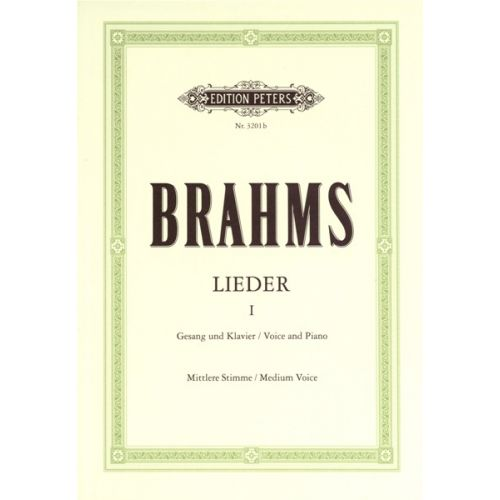 EDITION PETERS BRAHMS JOHANNES - COMPLETE SONGS VOL.1: 51 SONGS - VOICE AND PIANO (PER 10 MINIMUM)
