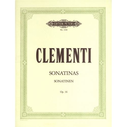EDITION PETERS CLEMENTI MUZIO - SONATINAS OP.36 - PIANO